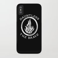 divergent iPhone & iPod Cases featuring Divergent -  Dauntless The Brave by Lunil