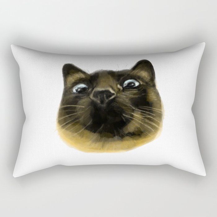 Applehead Siamese Cat Rectangular Pillow