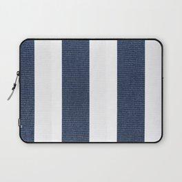 Nautical Blue White Stripes Laptop Sleeve
