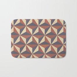 Brown, Tan and Black Geometric Pattern Bath Mat
