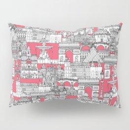 Paris toile strawberry pink Pillow Sham