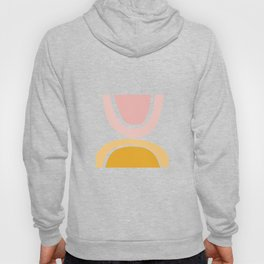 Abstract Shapes 17 in Mustard Yellow and Pale Pink Hoody