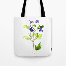 Clematis Cartoon Tote Bag