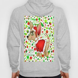 Christmas Chihuahua with dots Hoody