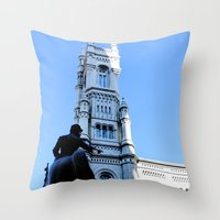 onward Throw Pillows featuring Onward (Philadelphia) by Julie Maxwell