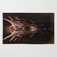 smaug Area & Throw Rugs featuring Smaug And The Thief by Andy Fairhurst Art