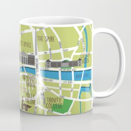 Dublin map illustrated Coffee Mug