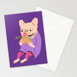 Frenchie Loves Taco Stationery Cards