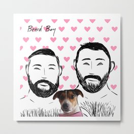 Beard Boy: Happy Dog Metal Print