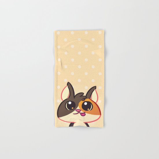 Curious Kitty Cat Hand & Bath Towel