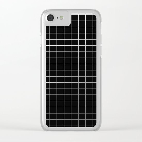 Metal Cage - Industrial, metallic grid pattern Clear iPhone Case