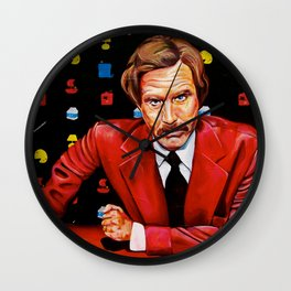 Papa Burgundy Wall Clock