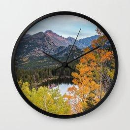 Bear Lake Autumn Sunset Rocky Mountain National Park Colorado Wall Clock