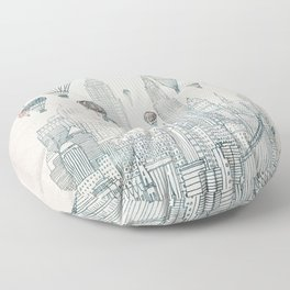 Voyages Over New York Floor Pillow