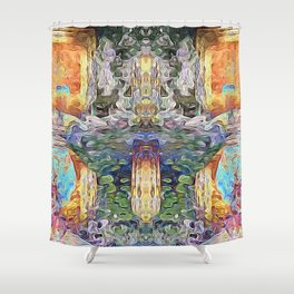Cross of Time Shower Curtain