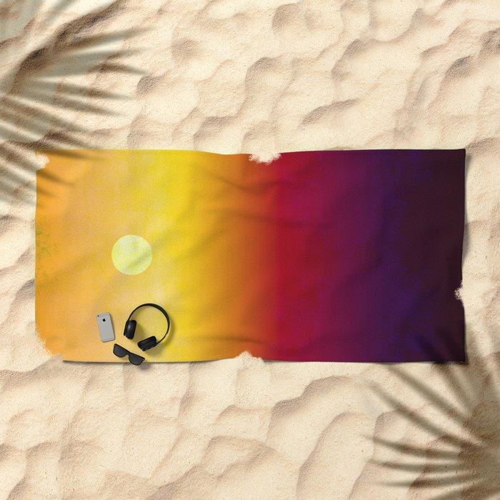 Sunset Over The Desert  Beach Towel