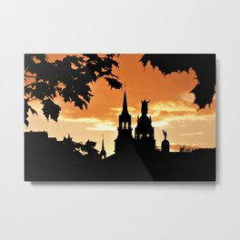 Sunset in Old Montreal Metal Print
