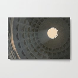 Pantheon skylight in Rome, Italy Metal Print