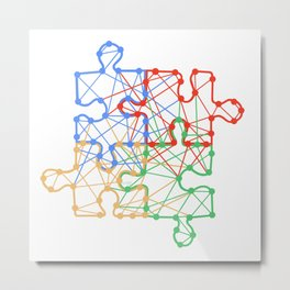 the Puzzle Metal Print