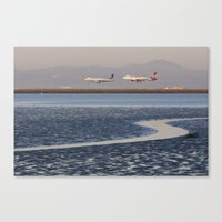 planes Canvas Prints featuring Planes Landing by photographyk