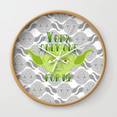 Star Wars Yoda Only One For Me Wall Clock