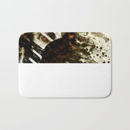 Splatter-Portrait Bath Mat