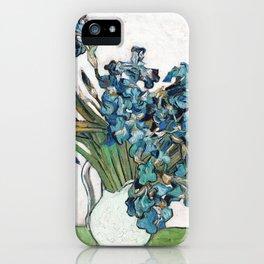Vincent Van Gogh - Irises (new color editing) iPhone Case