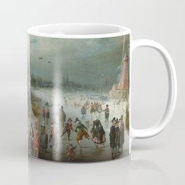 Skating on the Frozen Amstel River by Adam van Breen, 1611 Coffee Mug
