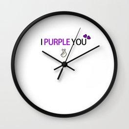 BTS i purple you Wall Clock
