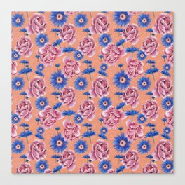 Flowers field Canvas Print