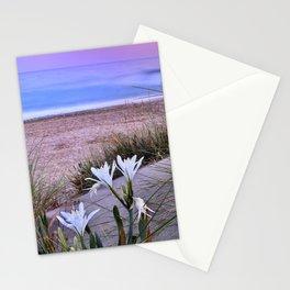 Sea Daffodil. Mediterranean sea Sunset Stationery Cards