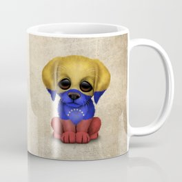 Cute Puppy Dog with flag of Venezuela Coffee Mug