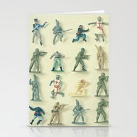 army Stationery Cards featuring Broken Army by Cassia Beck
