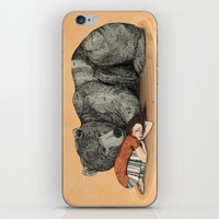 power iPhone & iPod Skins featuring Huntress by Sandra Dieckmann