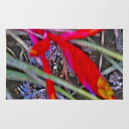 Bromeliad in the Cathedral Rug