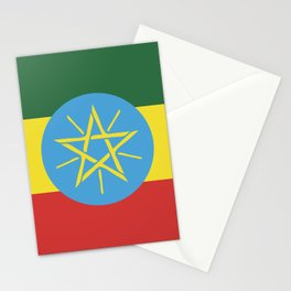 Ethiopia flag emblem Stationery Cards