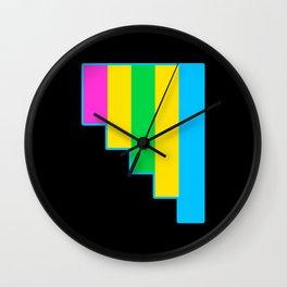 Polyromantic Wall Clock