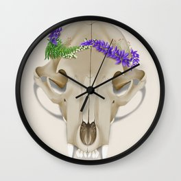 Crown of Lupine Wall Clock