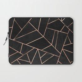 Velvet Black & Rose Gold Laptop Sleeve