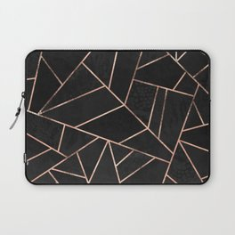 Velvet Black & Rose Gold Laptop Sleeve