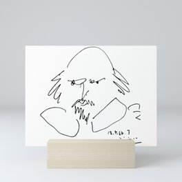 Pablo Picasso William Shakespeare 1946 Portrait, Line Drawing Artwork Reproduction For TShirt, Frame Mini Art Print