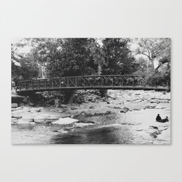 A lovely day for a walk by the river Canvas Print
