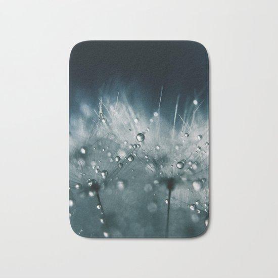 dandelion teal Bath Mat