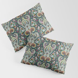 Paisley Print w/ Teal, Magenta & Mustard Yellow Pillow Sham