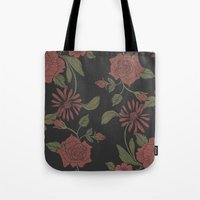 flora Tote Bags featuring Flora by Norman Duenas