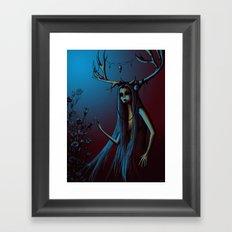 Horned One Framed Art Print