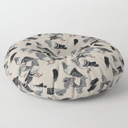 Pigeon Pattern Floor Pillow