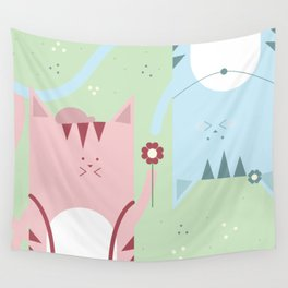 Traveling Tabbies: Flower Power Wall Tapestry