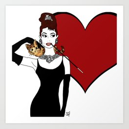 love from holly and cat Art Print