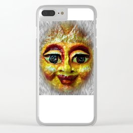 Face of happiness Clear iPhone Case